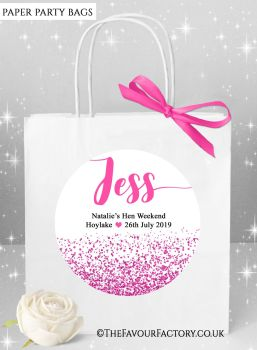 Hot Pink Hen Party Bags Named x1