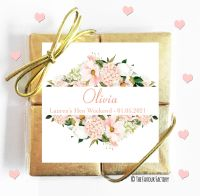 Named Hen Party Chocolate Quads Blush Floral Frame x1