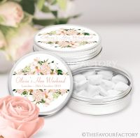 Blush Floral Frame Hen Party Favour Tins x1