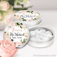 Hen Party Favour Tins Blush Hydrangeas x1