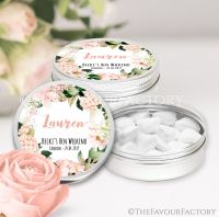 Named Hen Party Favour Tins Blush Hydrangeas x1