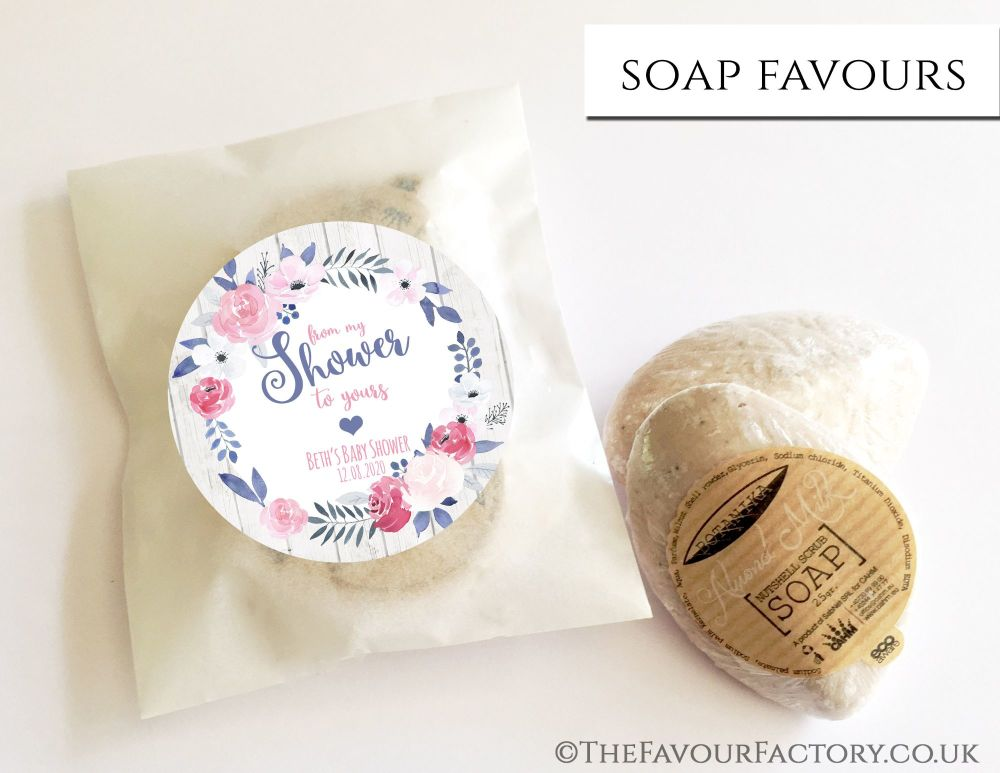 Baby Shower Soap Favours From My Shower To Yours Midnight Rose x1