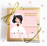 Personalised Communion Chocolates Quads Floral Girl 2 x1