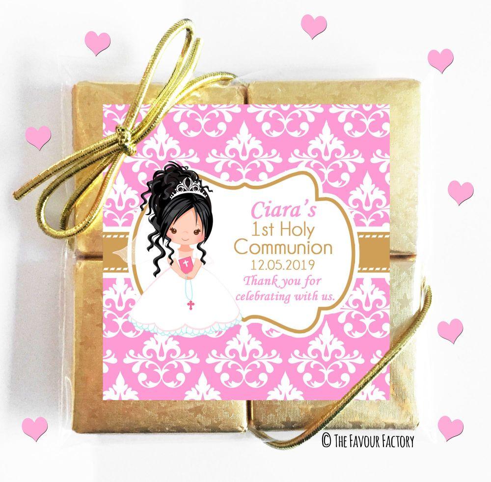 Personalised Communion Chocolates Quads Girl 2 x1