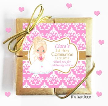 Holy Communion Chocolates Quads Favours Blonde Hair Girl x1
