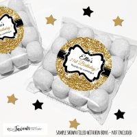Gold Glitter Adult Birthday Party Favours Sweet Bags Kits x12