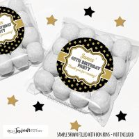 Adult Birthday Favours Sweet Bags Kits Gold Stars x12