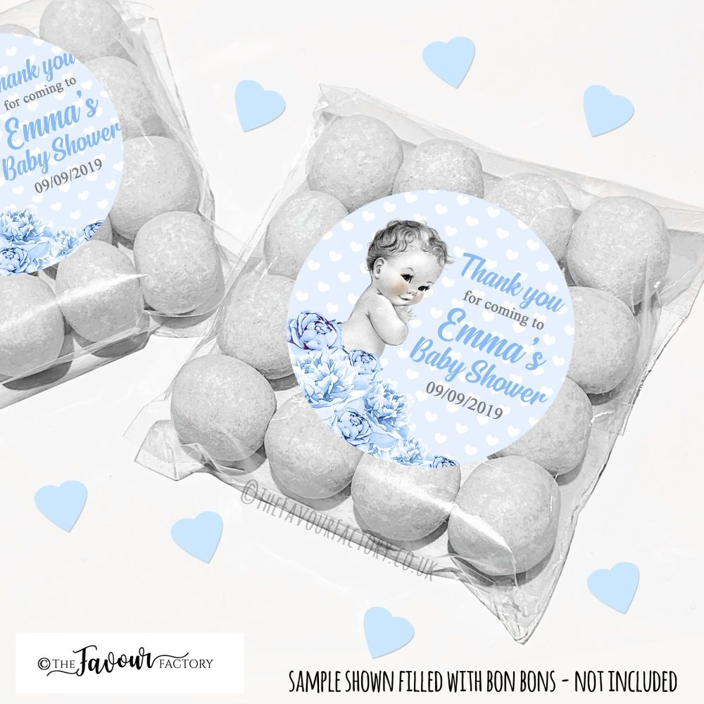 Baby Shower Party Favour Bags Kits Vintage Baby Boy x12