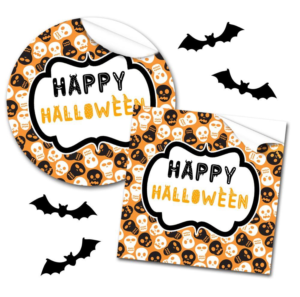 Halloween Stickers Skulls