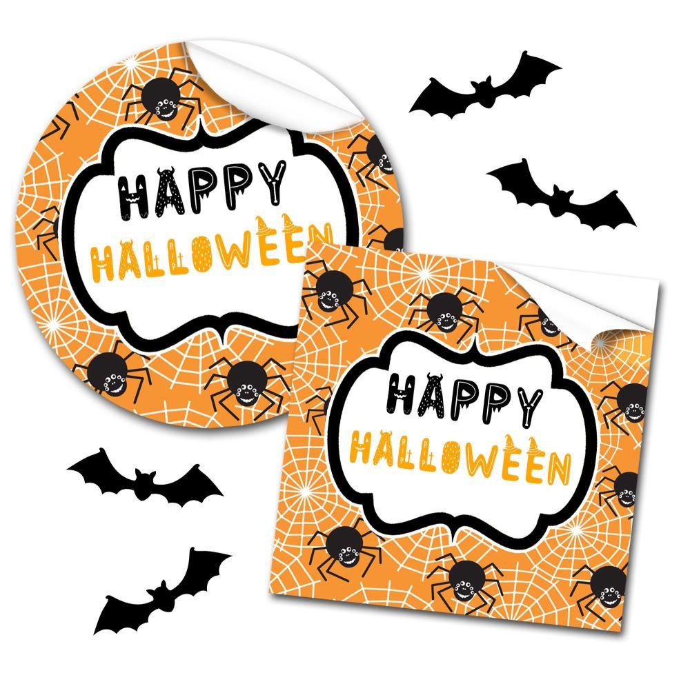 Halloween Stickers Spiders