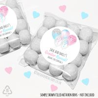 Personalised Gender Reveal Sweet Bags Balloons x12