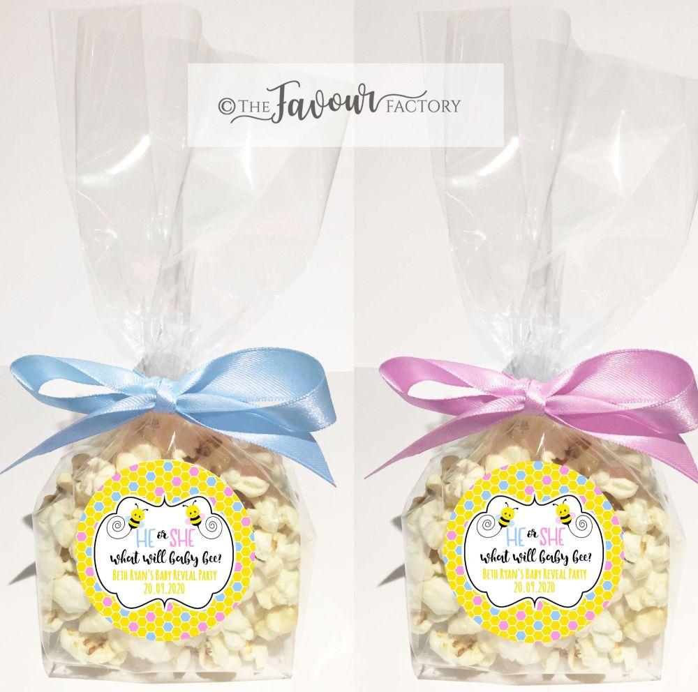 Gender Reveal Favour Bags Kits What Will Baby Bee x12