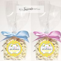 Personalised Gender Reveal Favour Bags Kits What Will Baby Bee x12