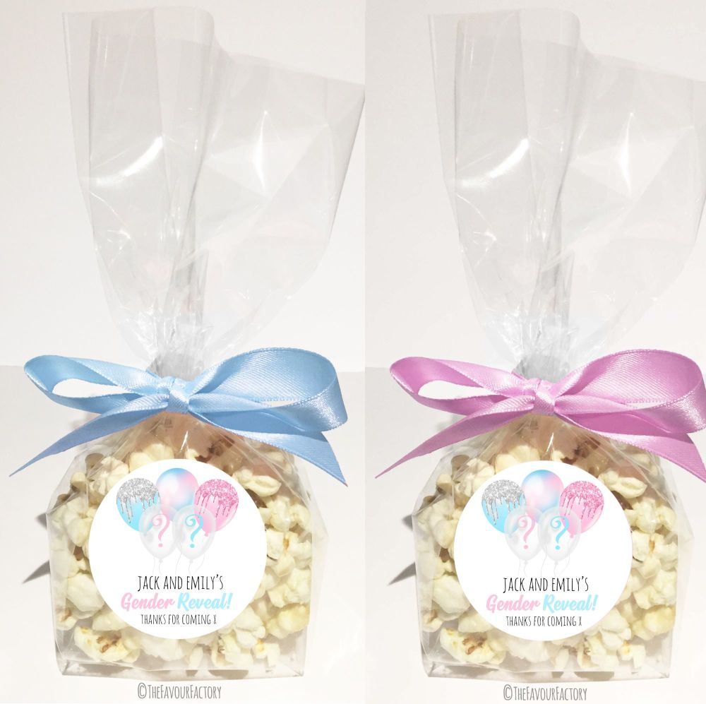 Gender Reveal Favour Bags Kits Balloons x12