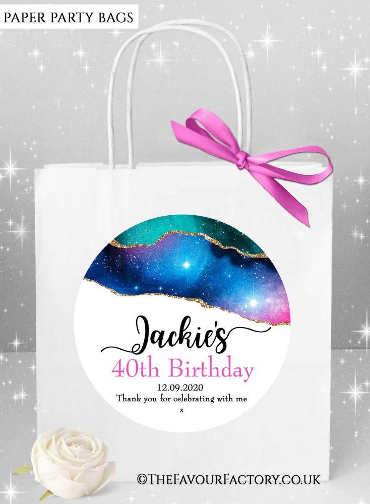 Birthday Party Bags Agate Galaxy x1