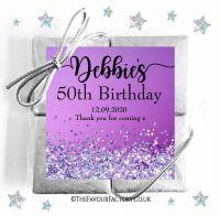 Birthday Party Chocolate Quads Purple Iridescent Glitter x1