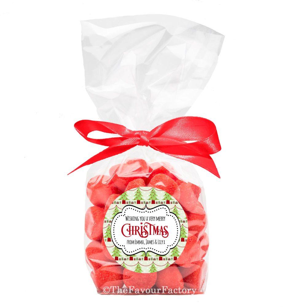 Christmas Ribbon Tie Bags Kits Berry Trees x12