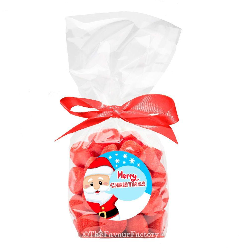 Christmas Ribbon Tie Bags Kits Santa Speech Bubble x12