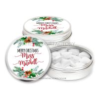 Christmas Table Setting Favours Tins Pine Cone Holly Bouquet x1