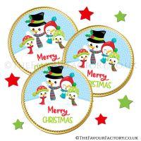 Chocolate Coins Snowman Family x10