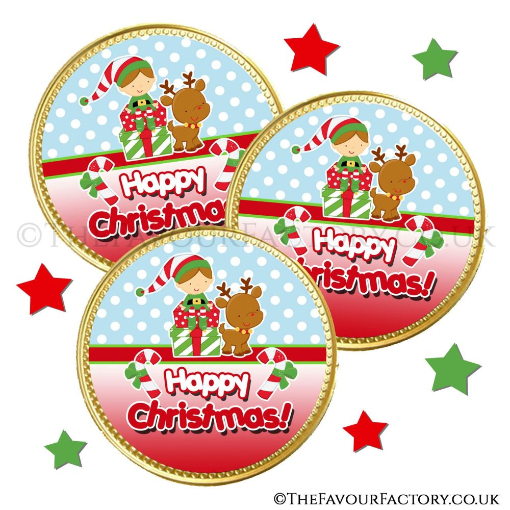 Chocolate Coins Elf On Presents x10