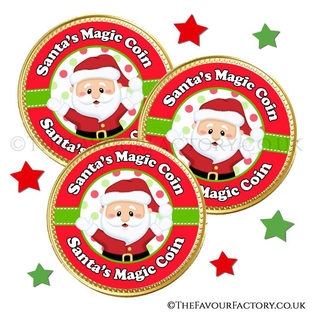 Santa's Magic Chocolate Coin x10