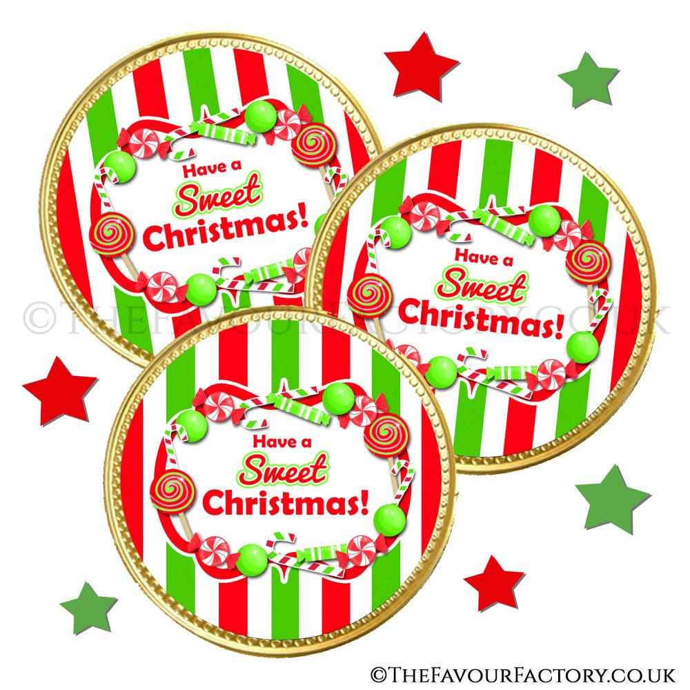 Chocolate Coins Sweets And Candy Canes x10