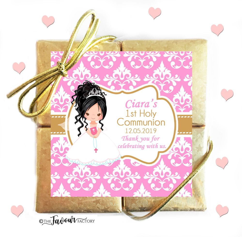 Personalised Communion Chocolate Favours