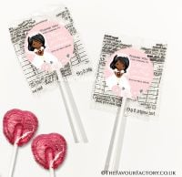 Holy Communion Lollipops Black Girl Damask