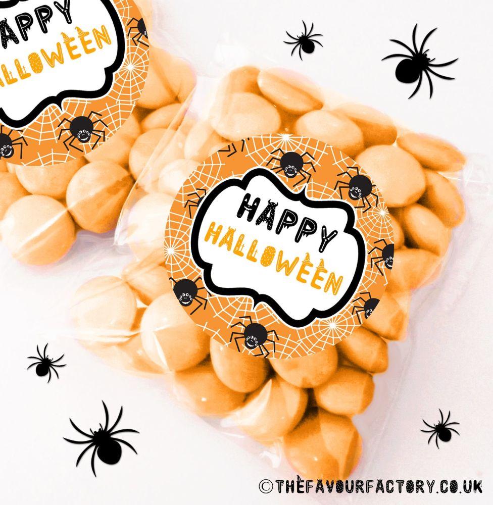 Halloween Sweet Bags Spiders x12