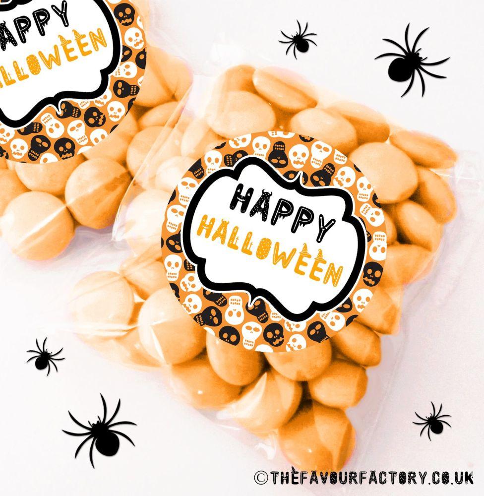 Halloween Sweet Bags Skulls x12