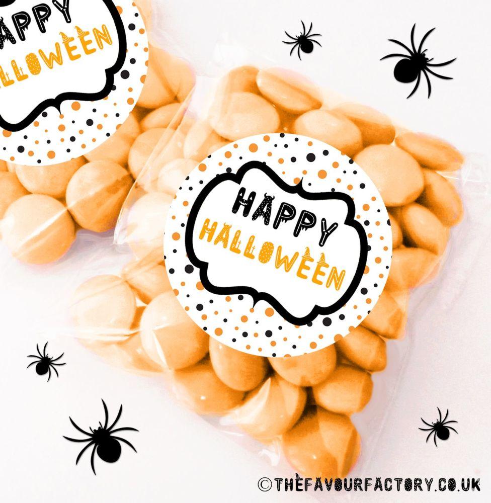 Halloween Sweet Bags Polka Dots x12