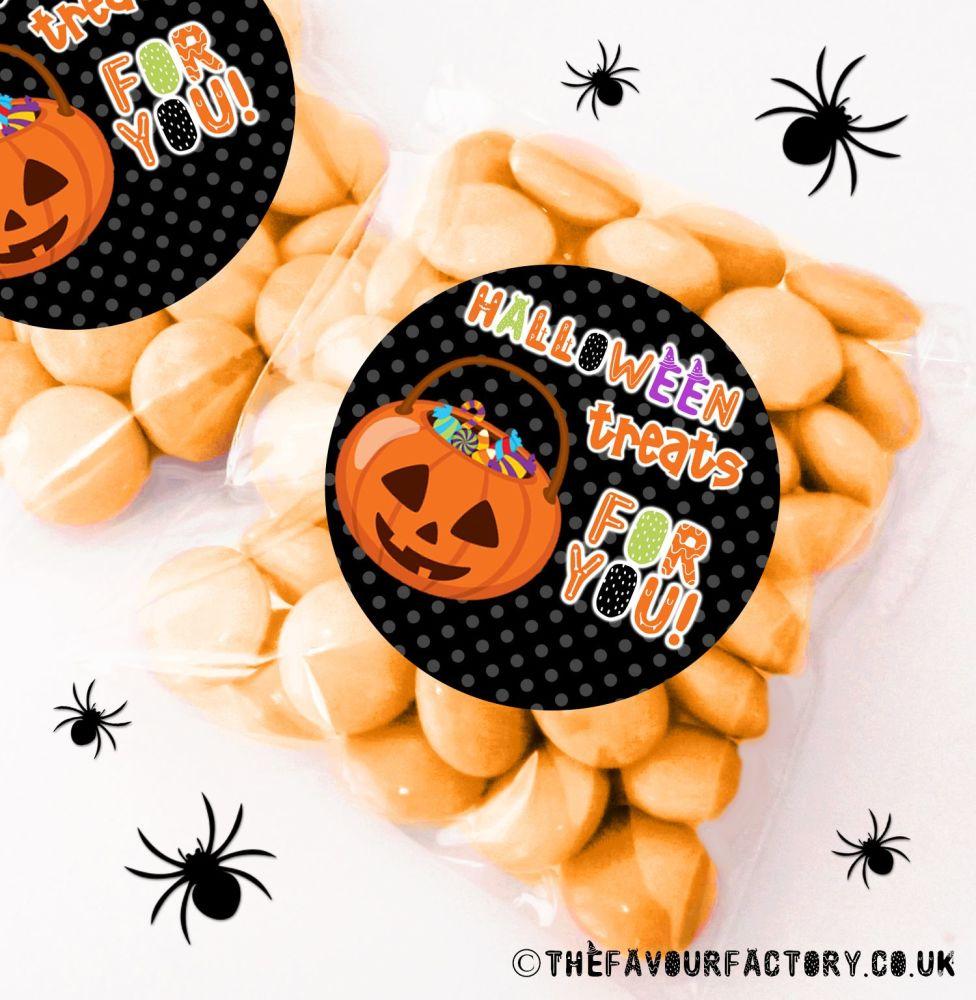 Halloween Sweet Bags Pumpkin Bucket x12