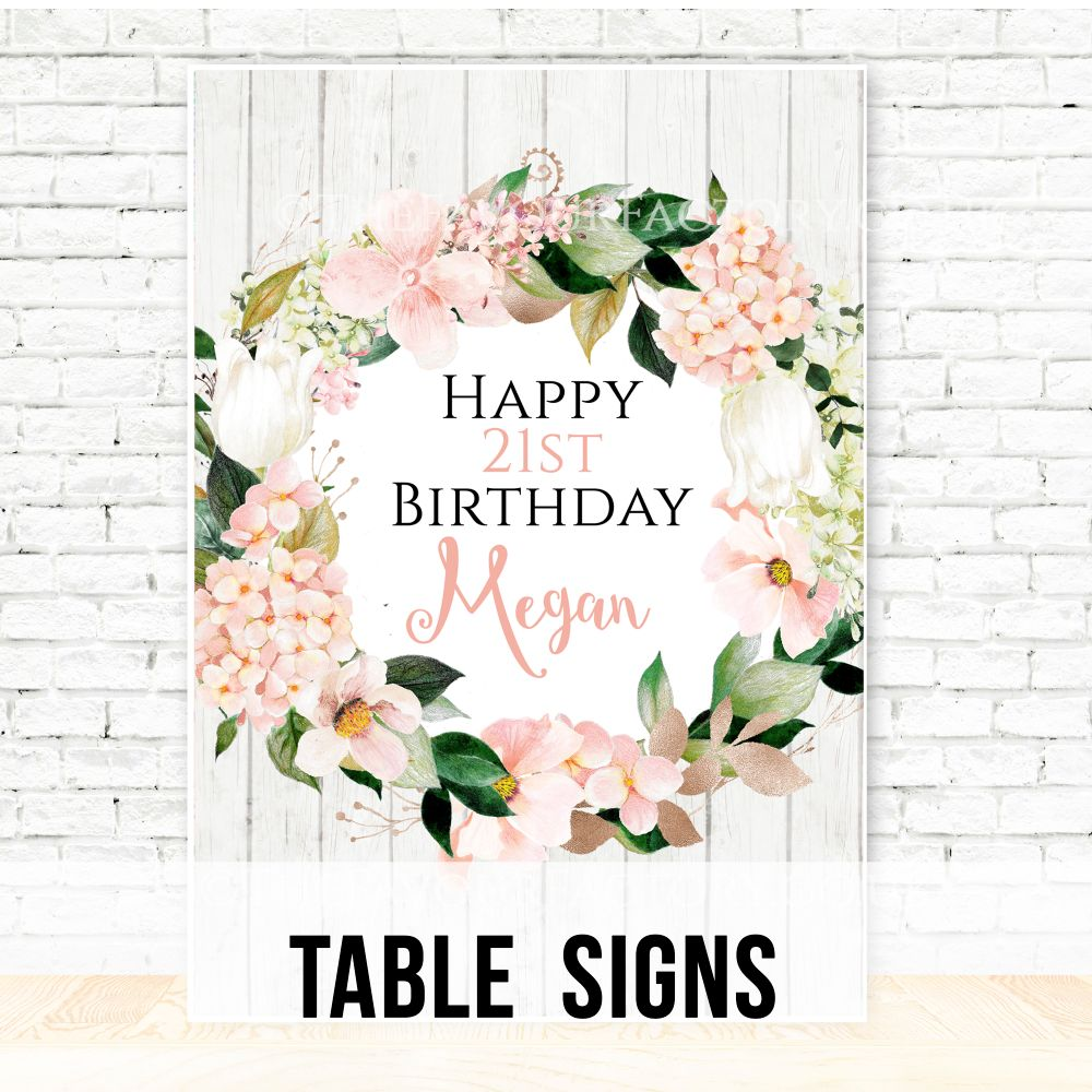Personalised Birthday Table Signs