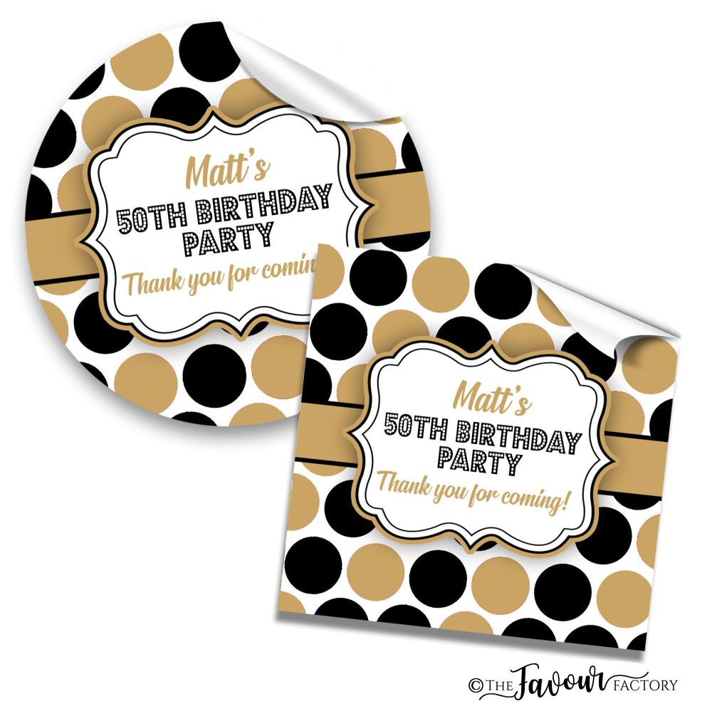Personalised Happy Birthday Stickers Polka Dots