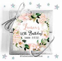 Birthday Chocolates Quads Blush Hydrangeas x1
