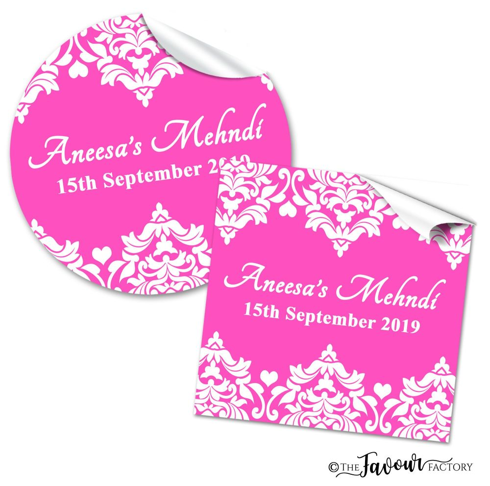 Mehndi Wedding Stickers -
