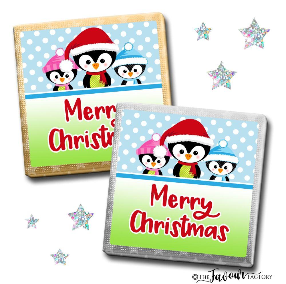 Merry Christmas Chocolates 3 Little Penguins x10