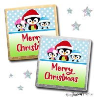 Merry Christmas Chocolates 3 Little Penguins x10