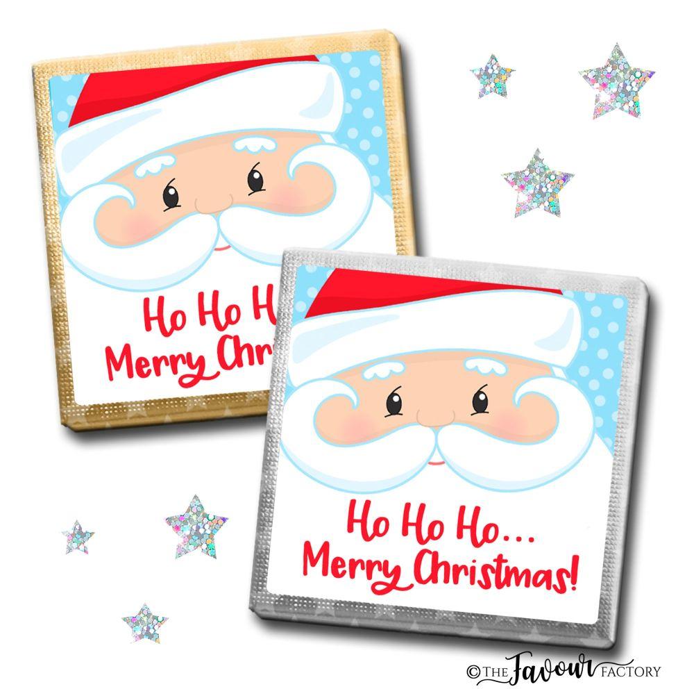 Merry Christmas Chocolates Santa Face x10
