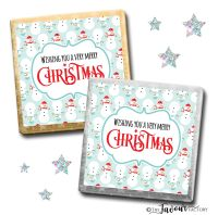 Merry Christmas Chocolates Cosy Snowmen x10