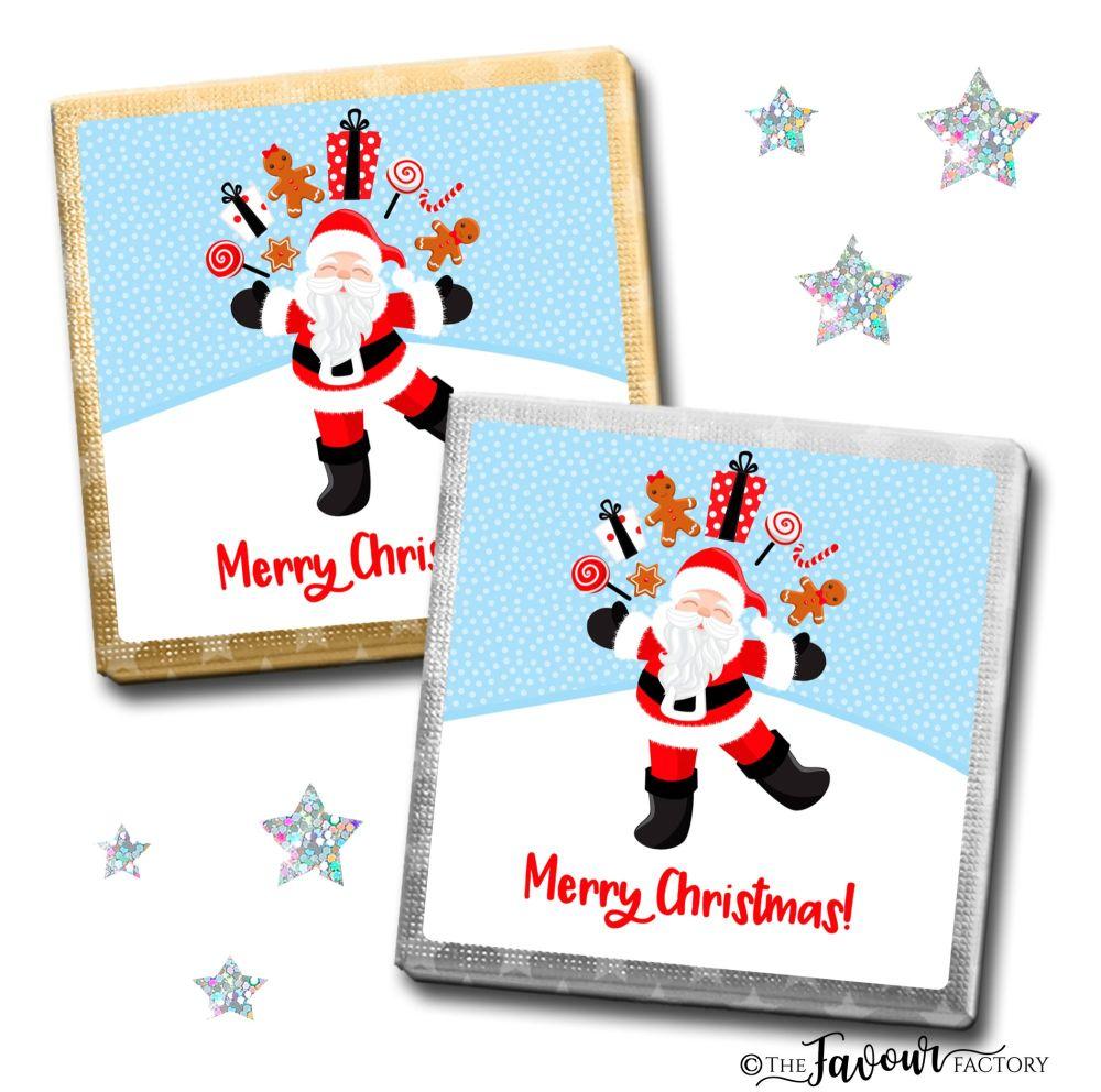 Merry Christmas Chocolates Juggling Santa x10