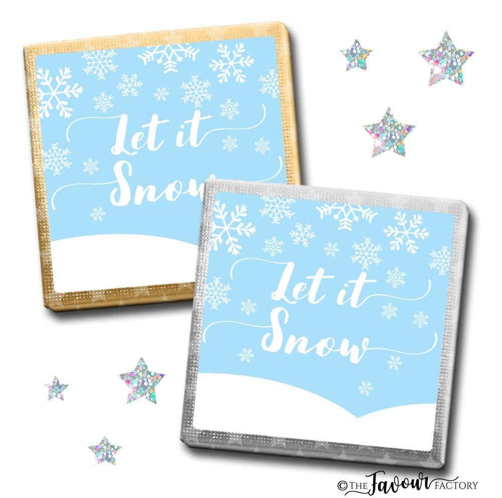 Merry Christmas Chocolates Let It Snow x10