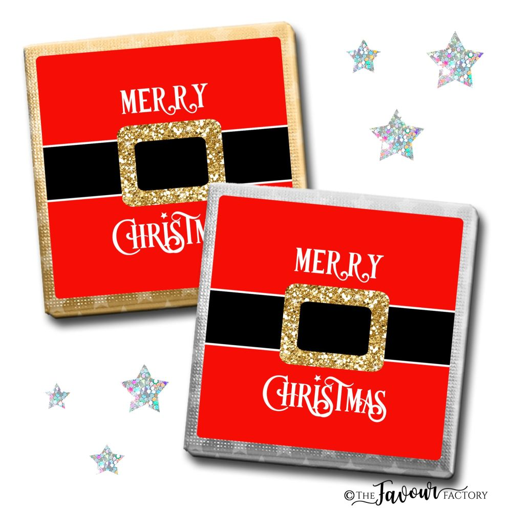 Merry Christmas Chocolates Santa's Belt x10
