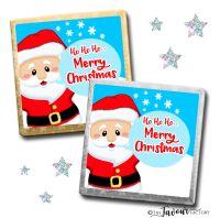 Merry Christmas Chocolates Santa Speech Bubble x10