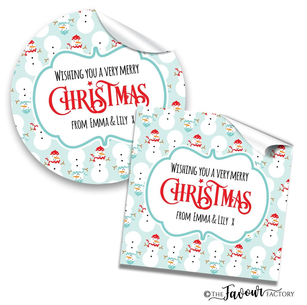 Christmas Stickers Cosy Snowmen