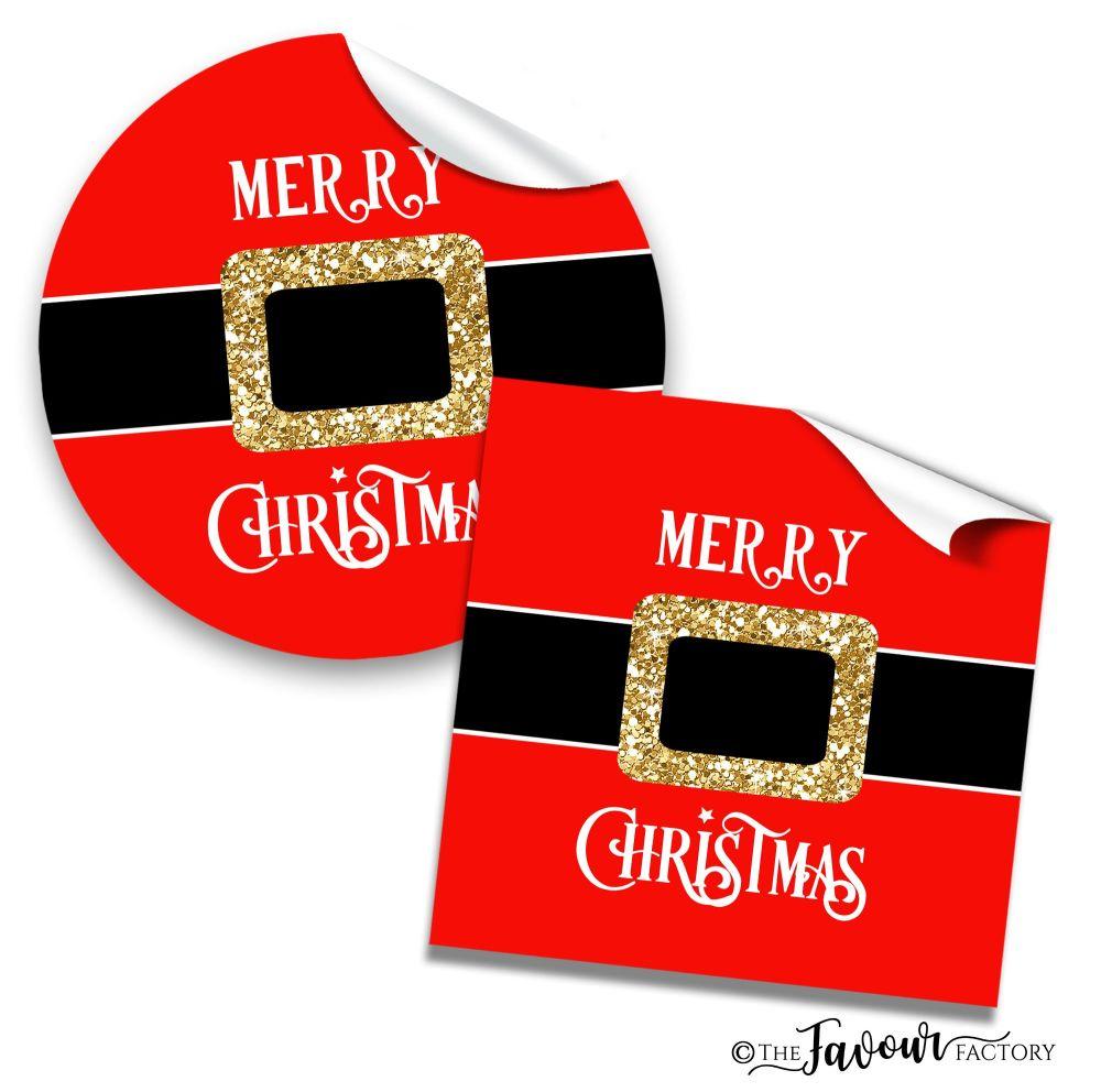 Christmas Stickers Santa's Belly Belt