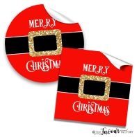 Santa Belly Personalised Christmas Stickers