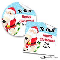 Personalised Christmas Stickers Santa's List