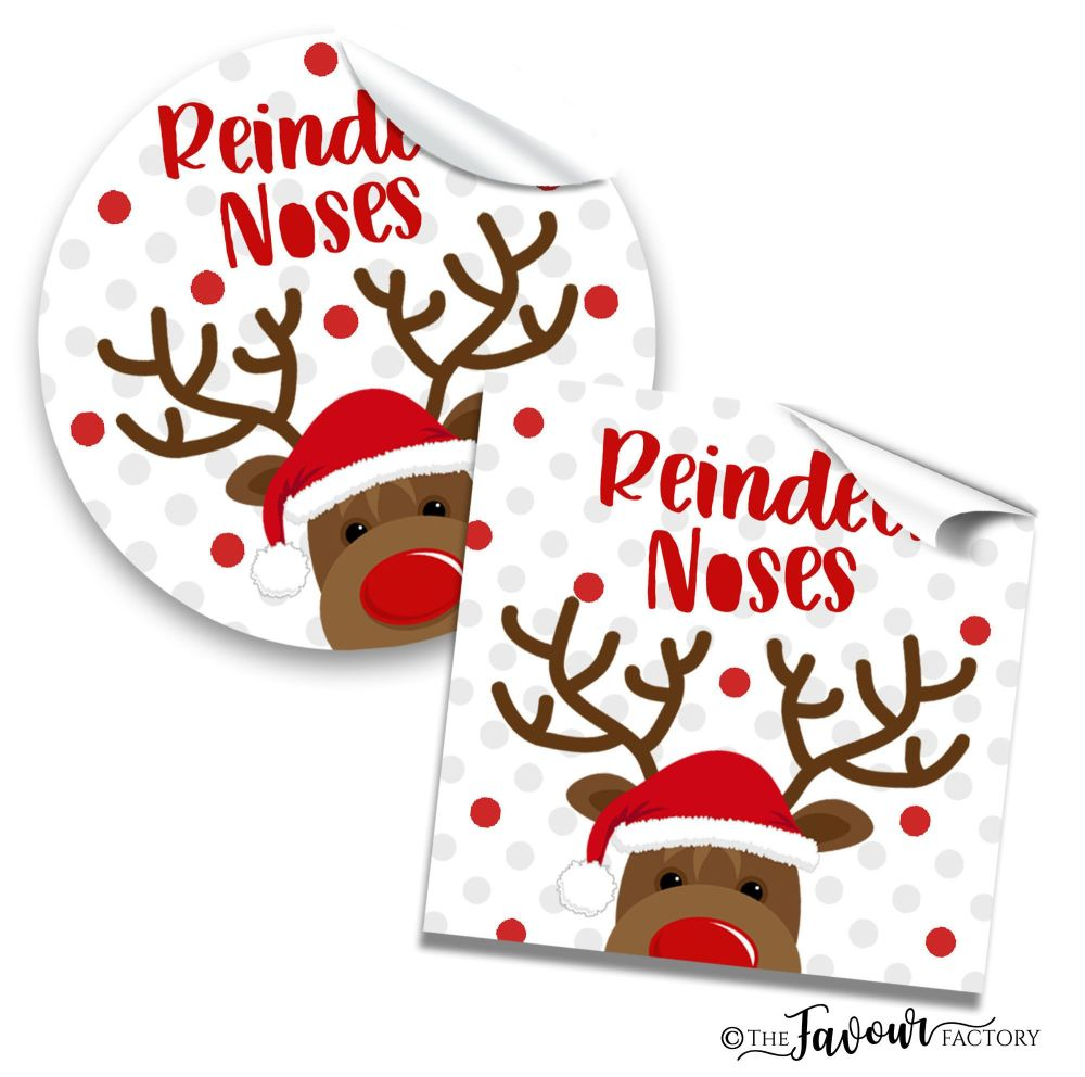 Christmas Stickers Reindeer noses